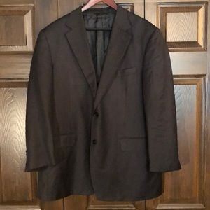 Canali Wool Dark Grey Italy Blazer IT 56 US 44
